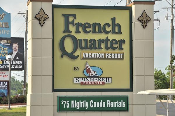 Spinnaker's French Quarter Resort, Branson MO May 2013